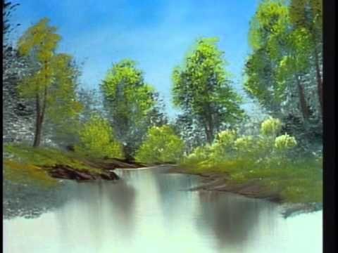 Bob Ross Lazy River Season 2 Episode 10 Bob Ross Paintings Bob Ross Landscape Paintings