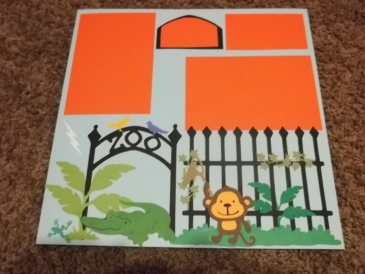 Zoo animal scrapbook ideas - Scrapbook Pages Nature Animals Attractions Collection Premade