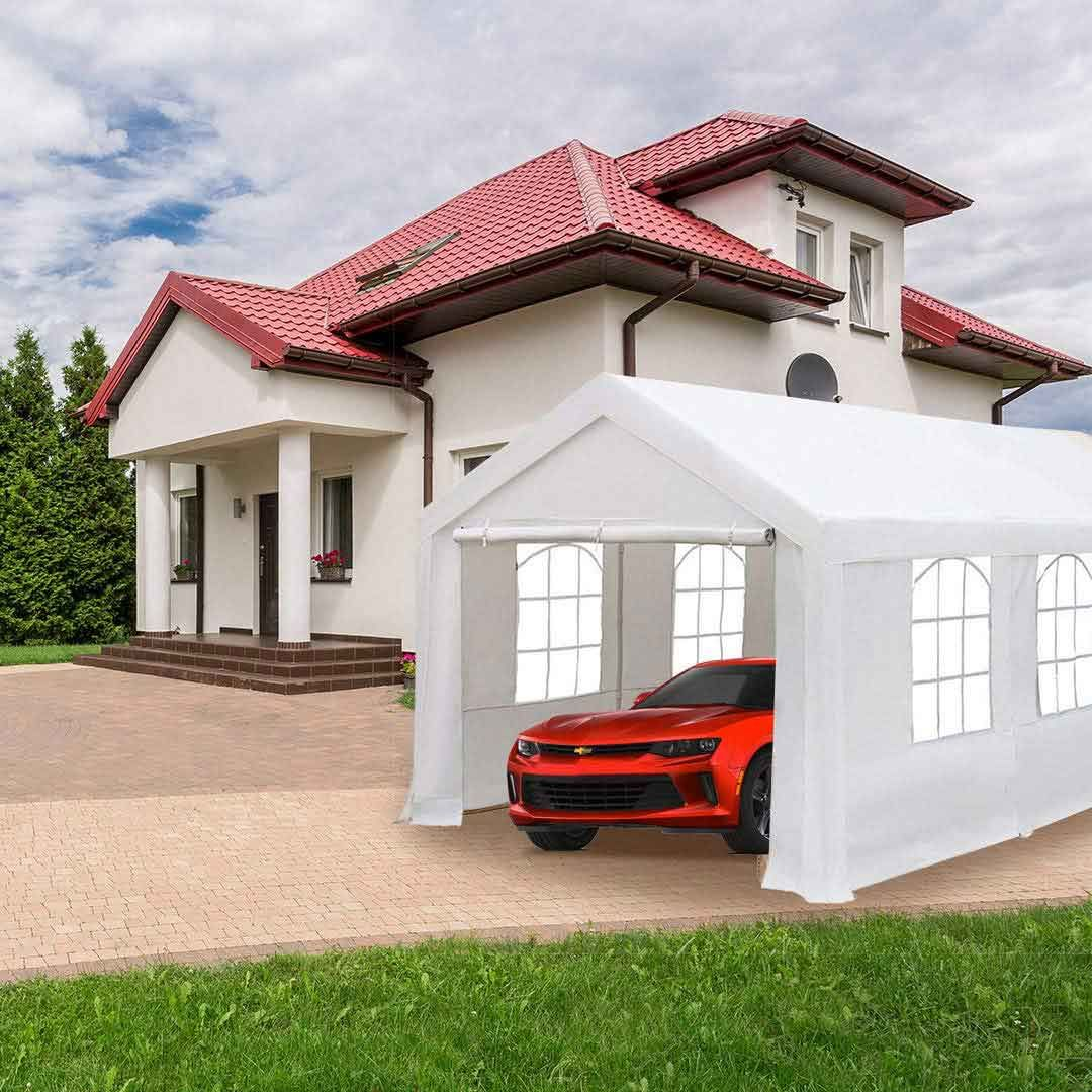 Heavy Duty Portable Garage | Portable garage, Steel frame ...