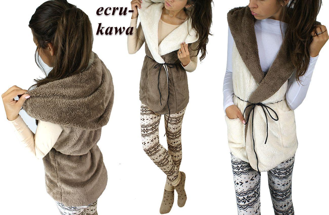 Futrzana Kamizelka Mis Futro Narzutka Kaptur Pasek 4626293115 Oficjalne Archiwum Allegro Fashion Pants Harem Pants
