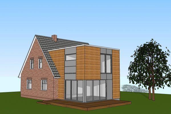 2 geschossiger anbau an ein einfamilienhaus harms und k ster bau gmbh anbau in 2019 anbau. Black Bedroom Furniture Sets. Home Design Ideas