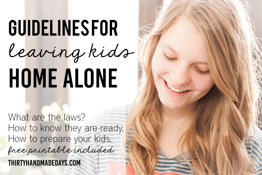 What Age Can Kids Stay Home Alone Guidelines Printable Babies