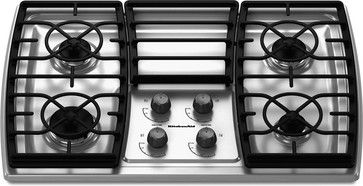 Marvelous KitchenAid 30 Inch 4 Burner Gas Cooktop   Contemporary   Cooktops   Lowes