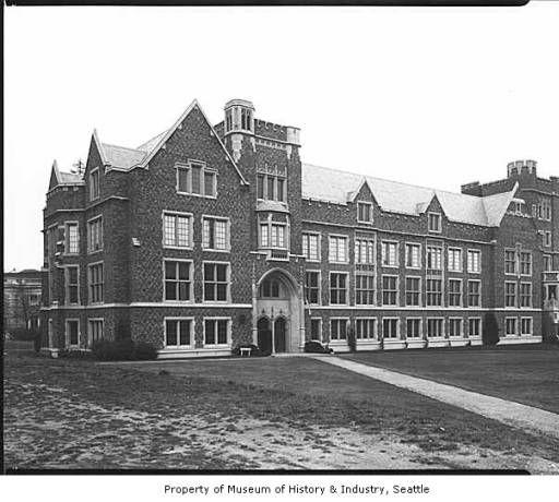 University Of Washington Physics Hall Seattle November 7 1931 Museum Of History And Industry University Of Washington Washington Physics
