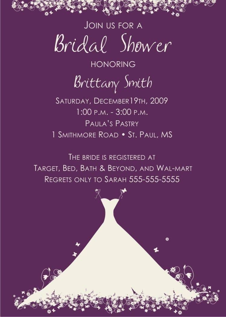27 Awesome Picture Of Wedding Shower Invitation Wording Gift Card Themed: Wedding Shower Invitations Wording Formal At Reisefeber.org