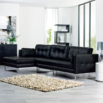 A Gorgeous Designer Corner Sofa In Soft Leather With A Hand