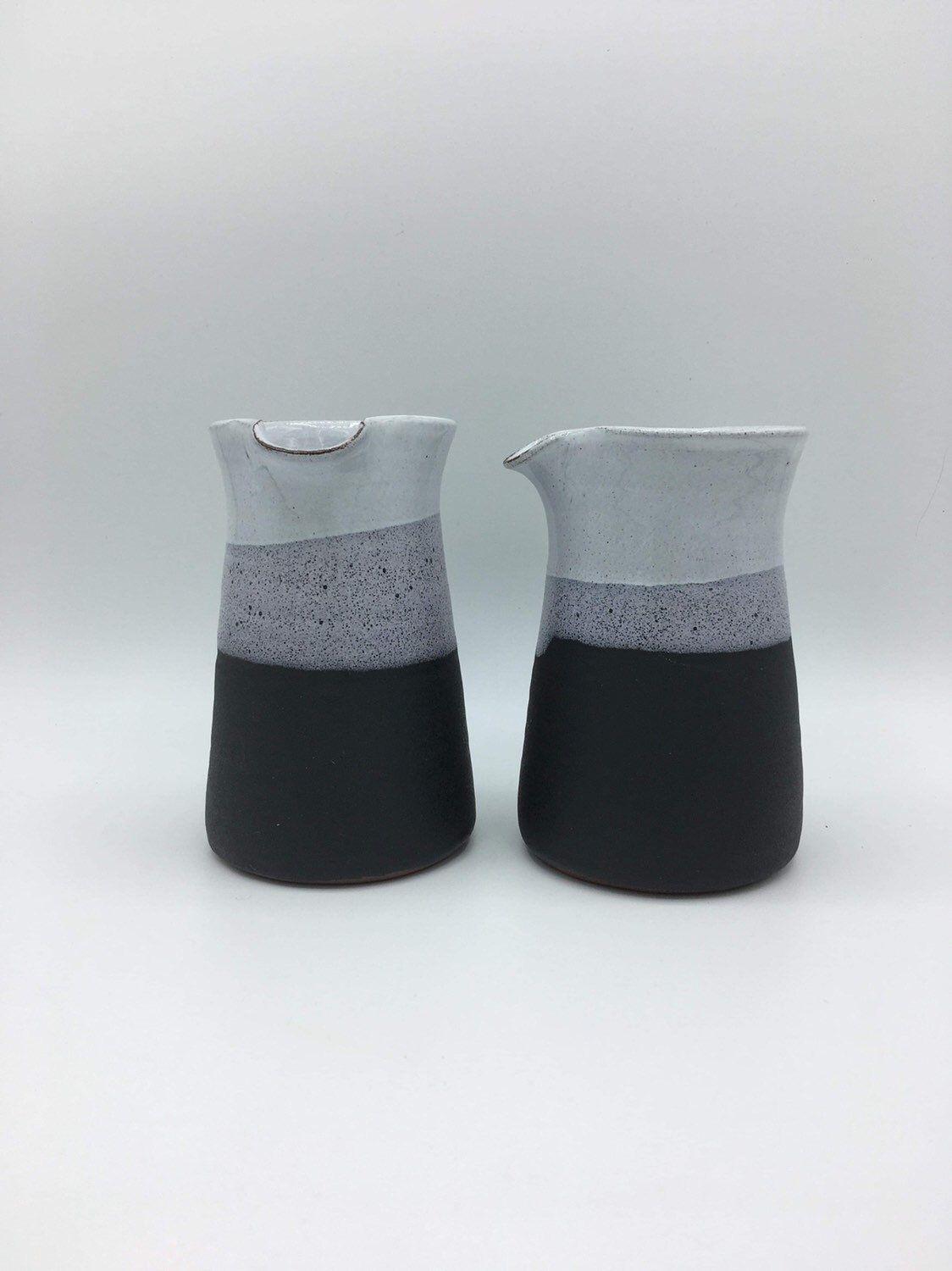 Excited To Share This Item From My Etsy Shop Black And White Ceramic Milk Jug Handmade Pottery Housewares White Bowls Handmade Pottery Handmade Ceramics
