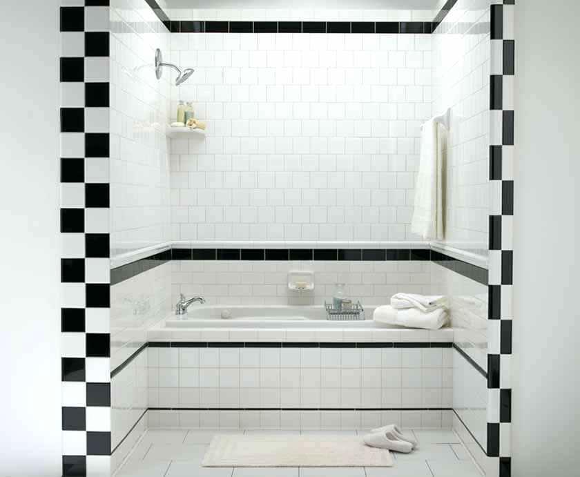 Carrelage Noir Blanc Salle De Bain Recherche Google