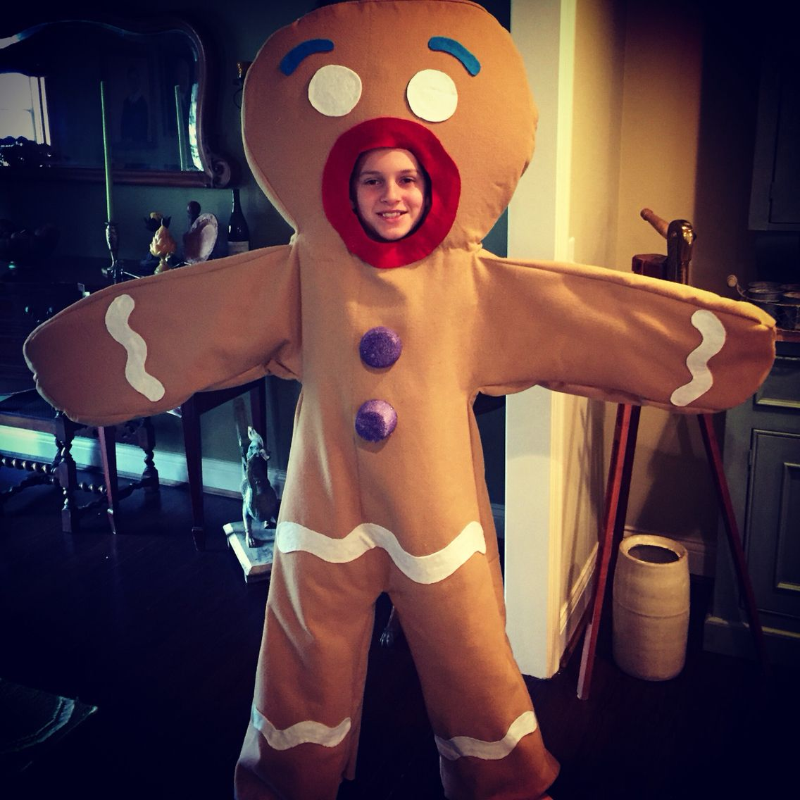 """Just finished sewing """"Gingy"""", The Gingerbread Man for"""