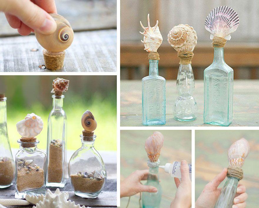 decorazione con le conchiglie: tappi per bottiglie   oggetti ... - Conchiglie Per Decorazioni