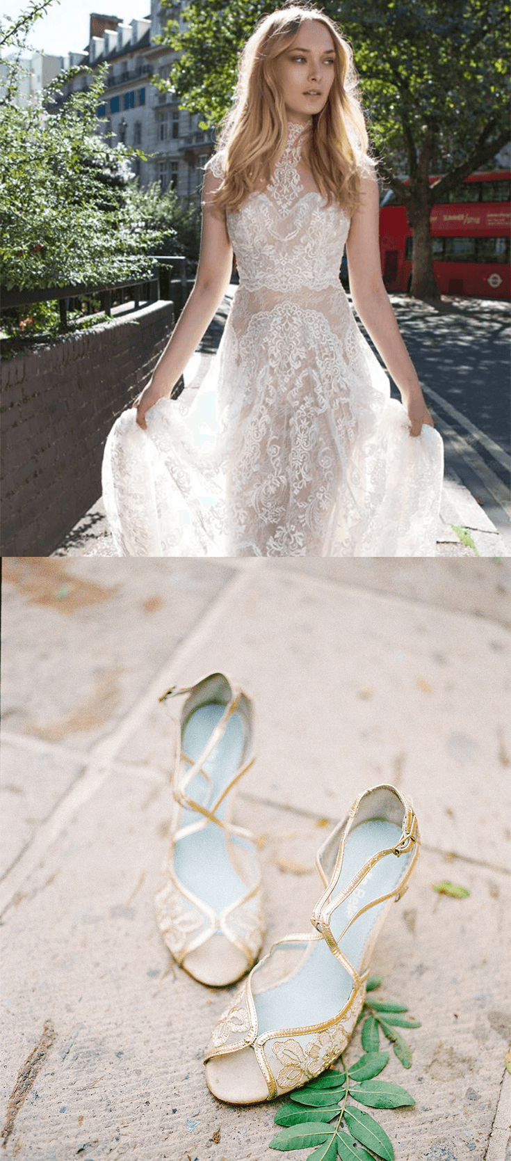 Embroidered Gold Lace Wedding Evening Shoes Wedding Dresses