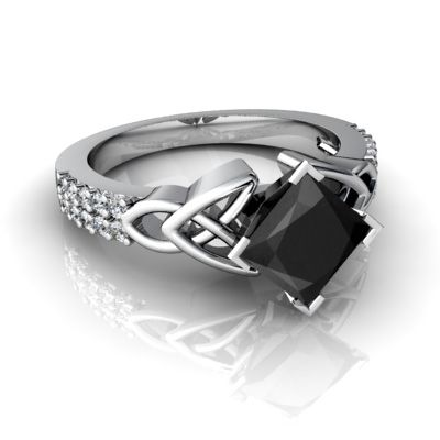 Onyx Rings for Women 14k Gold Onyx and Diamond Accent Cocktail