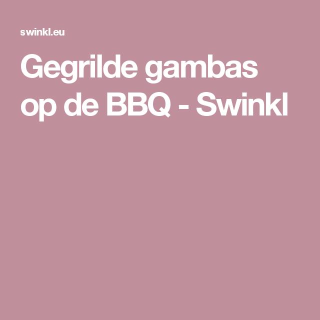 Gegrilde gambas op de BBQ - Swinkl