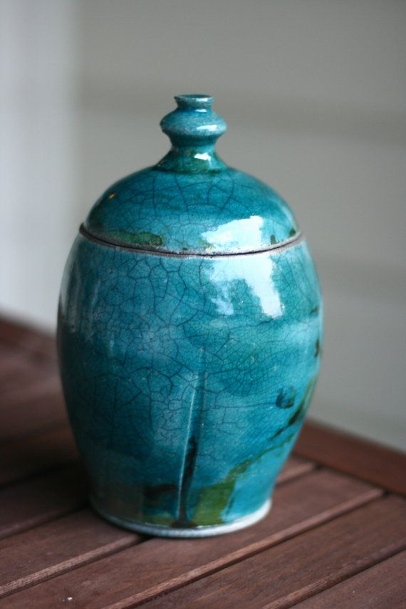 Crackled teal from etsy.
