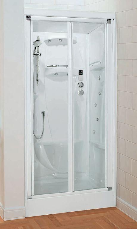 Novellini New Holiday Bi Fold Door Alcove Shower Pod Shower Pods Shower Room Bifold Doors