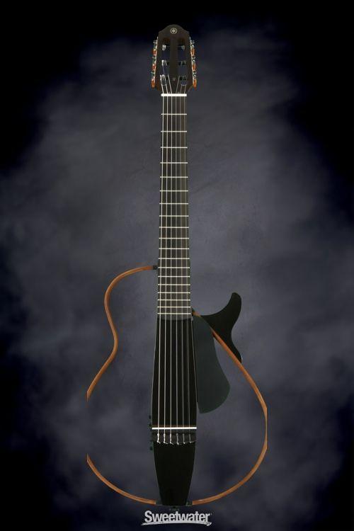 Yamaha Slg200n Silent Guitar Trans Black Yamaha Silent Guitar Yamaha Guitar Acoustic Guitar