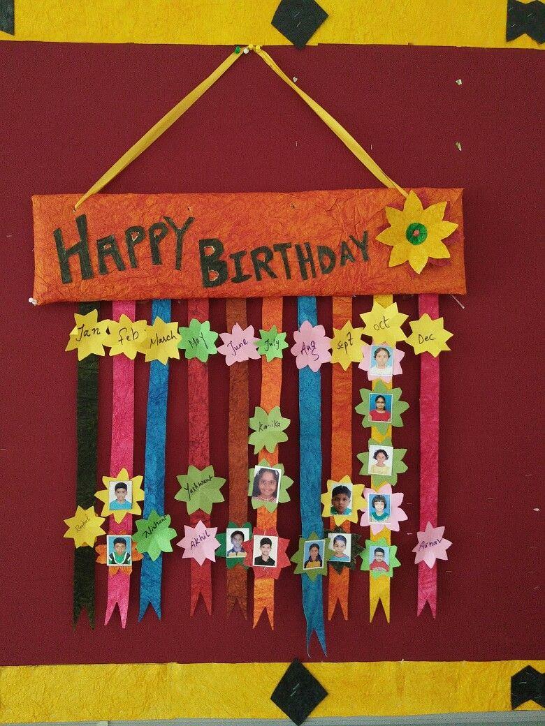 Birthday chart | project for kids | Pinterest | Birthday ...