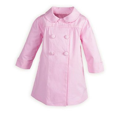 02208208a Pink Girl s Spring Coat