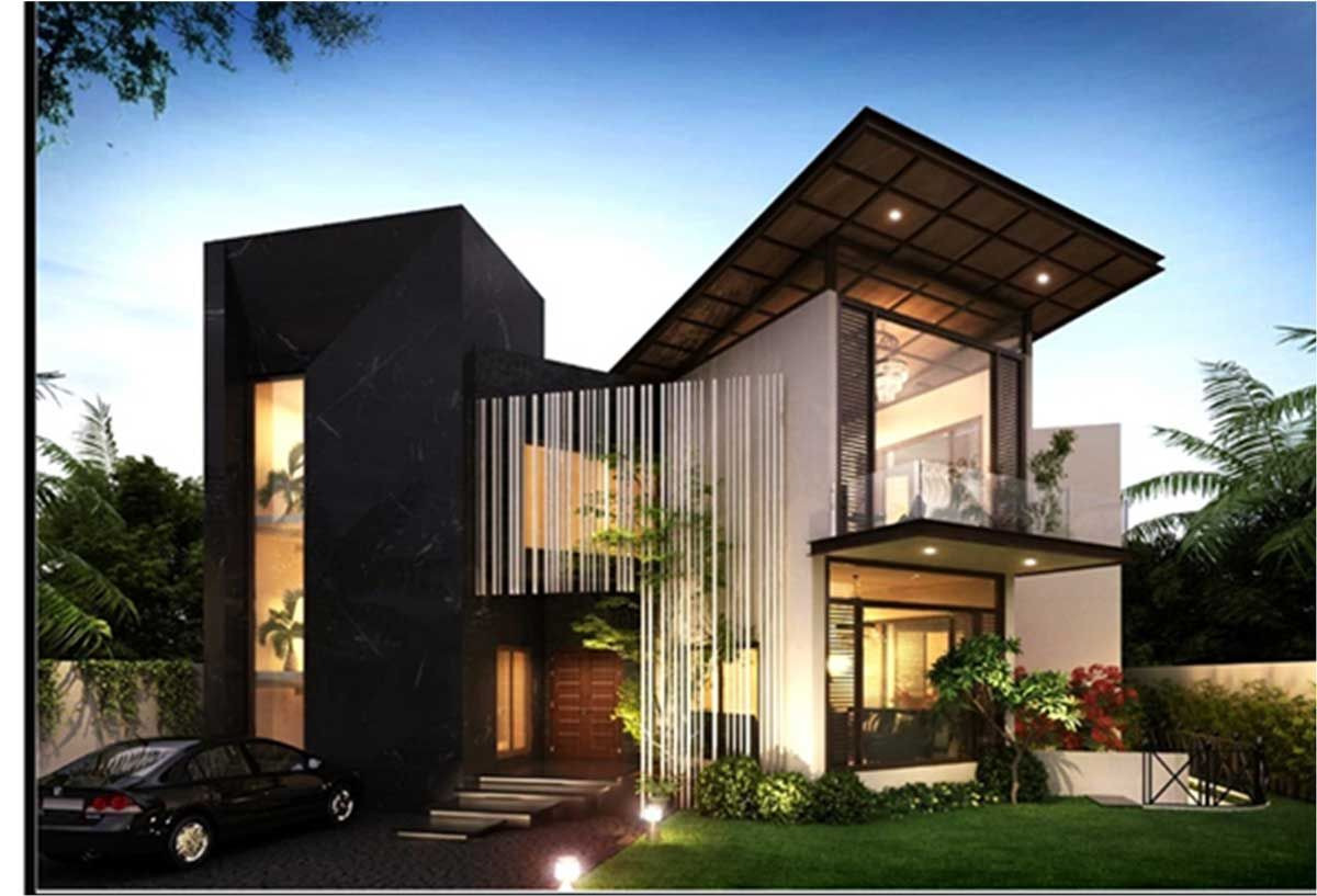 Contemporary Residence By Me Architects 600 Sq Yd House In 2020 Contemporary House Design House Design Classic House Design