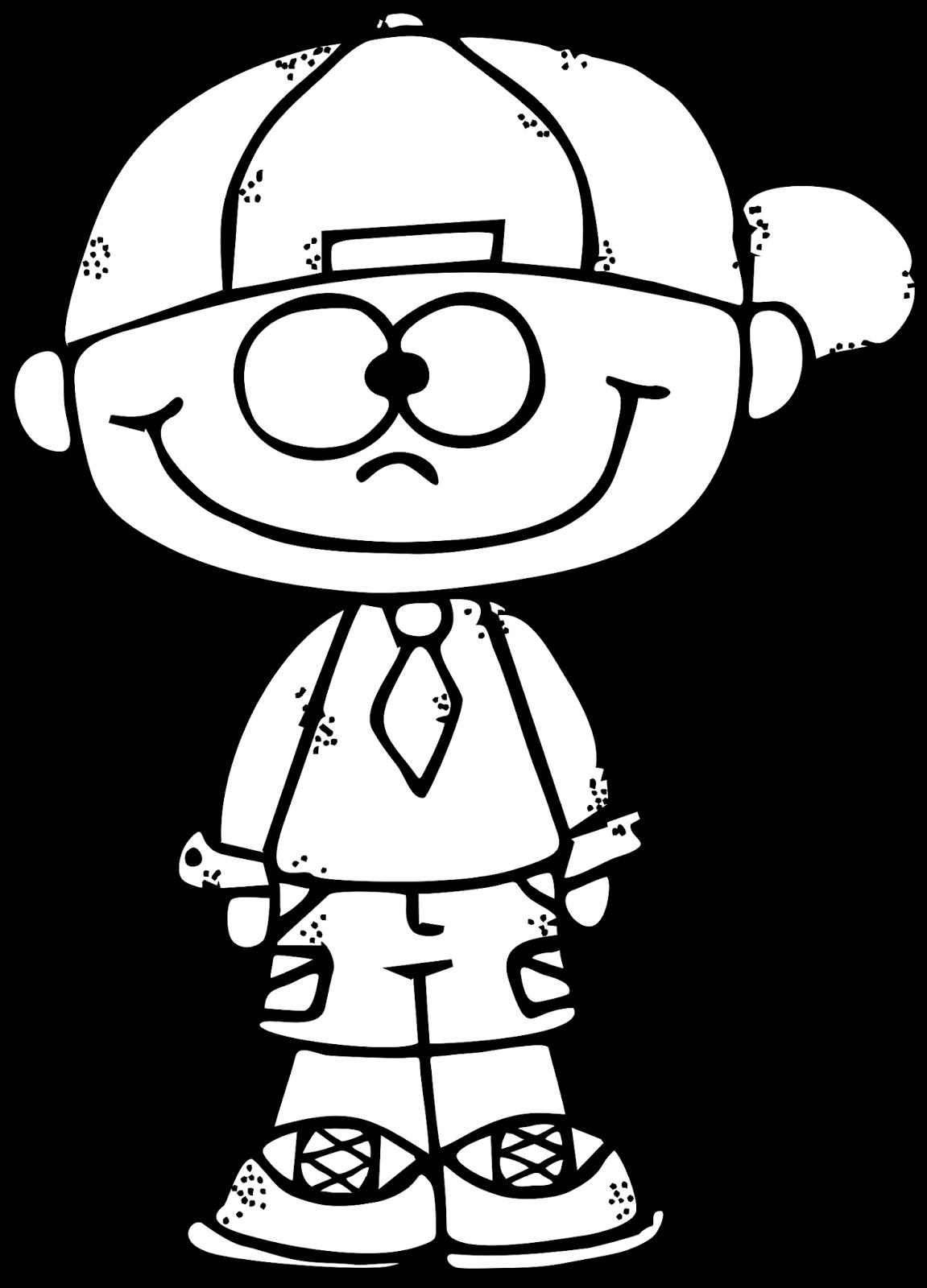 Worksheetjunkie Cute Boy Clipart Freebie Coloring Pages Clip Art Freebies Art Drawings For Kids
