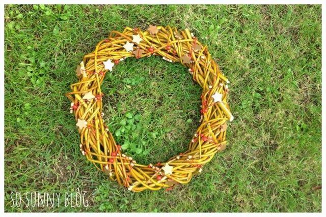 Corona de Navidad handmade. DIY Christmas wreath