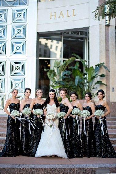 Elegant Black White Gold Wedding White Wedding Decorations