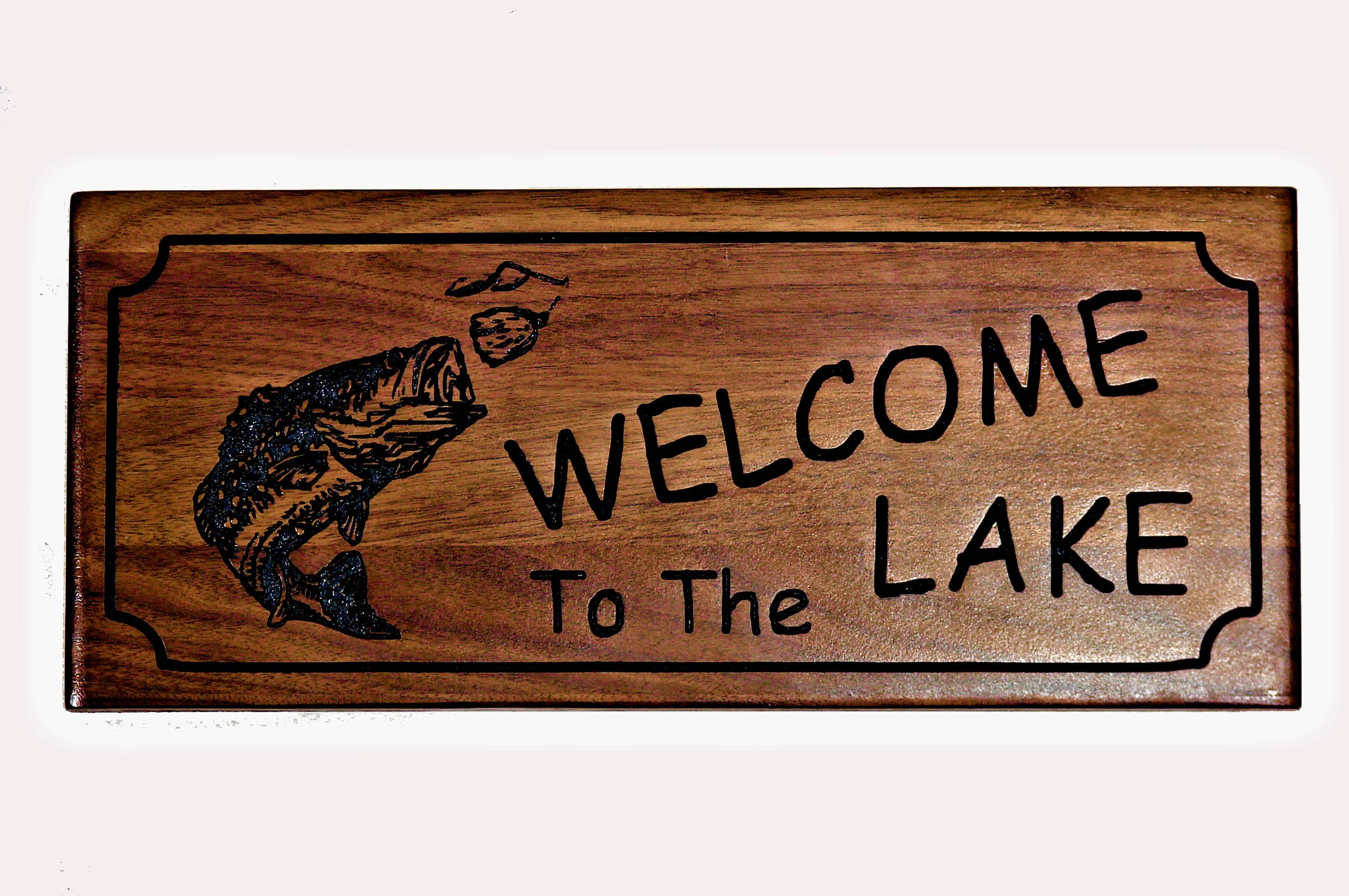 Welcome To The Lake Signs Decor Best Lake Welcome Wood Sign  Carved Welcome Sign  Engraved Wood Sign Design Ideas