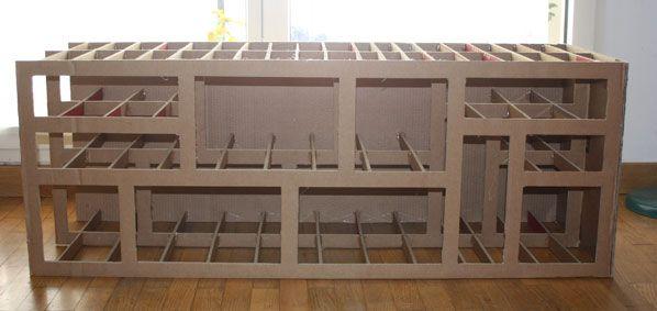 tutoriel meuble tv en carton - Recherche Google \u2026 Pinteres\u2026 - Meuble Tv Avec Rangement