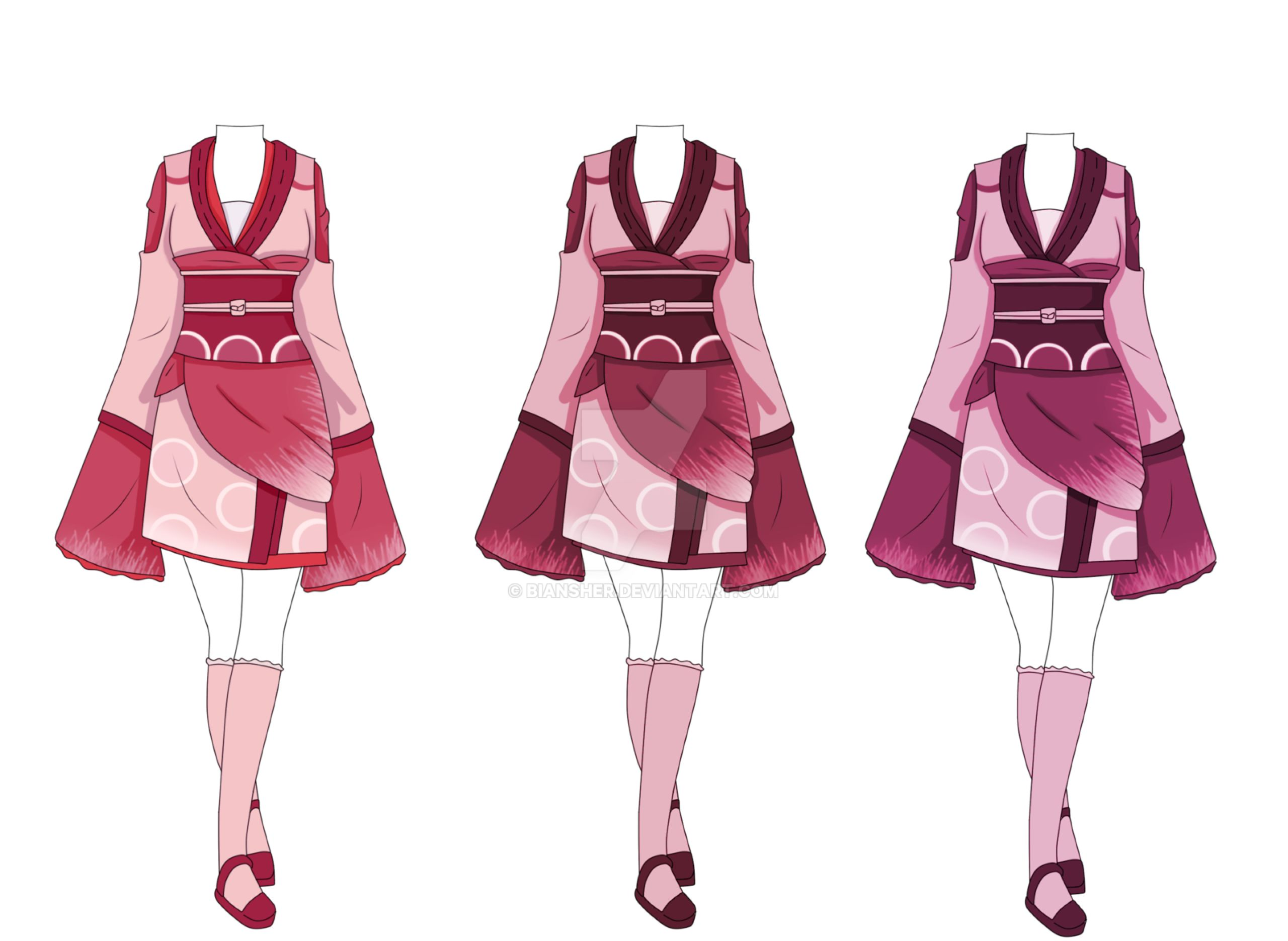 Outfit Adoptable Closed By Biansher On Deviantart Anime