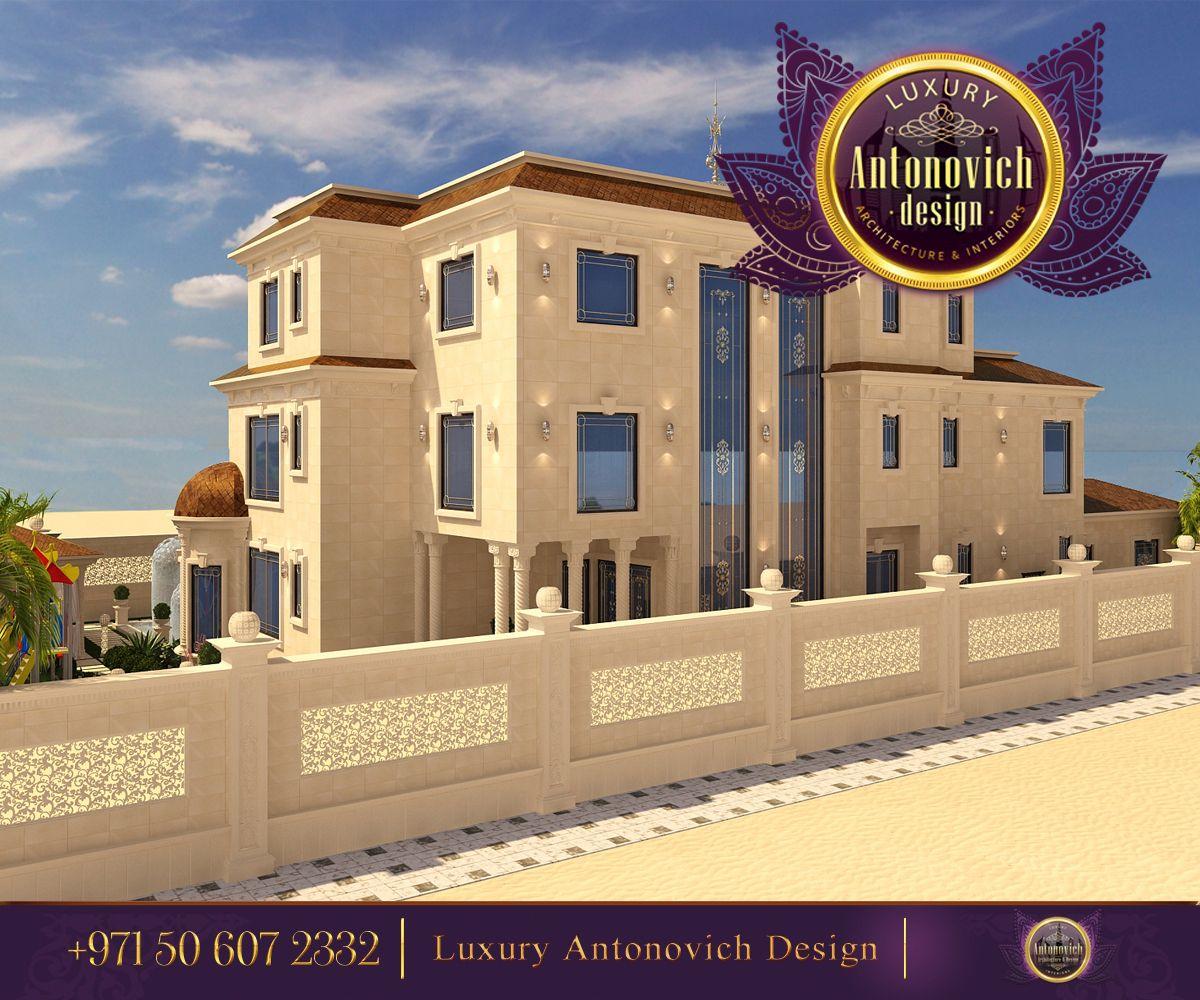 Professional luxury villa exterior designs in qatar - Antonovich Design 3 Storey Luxury Mansion Exterior