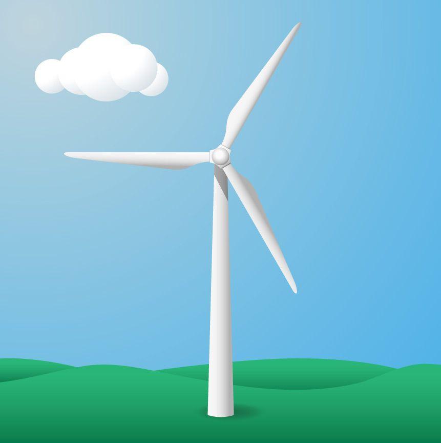 Illustrator Drawing Tutorial Create A Wind Turbine Icon In Wind Turbines Art Wind Turbine Drawing Tutorial