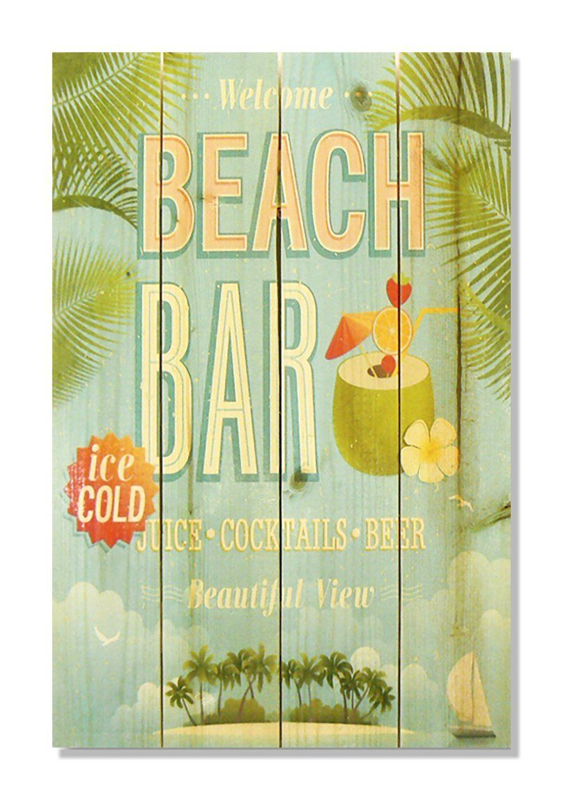 Wile E. Wood \'Beach Bar\' Wall Art, 14 by 20-Inch >>> Be sure to ...