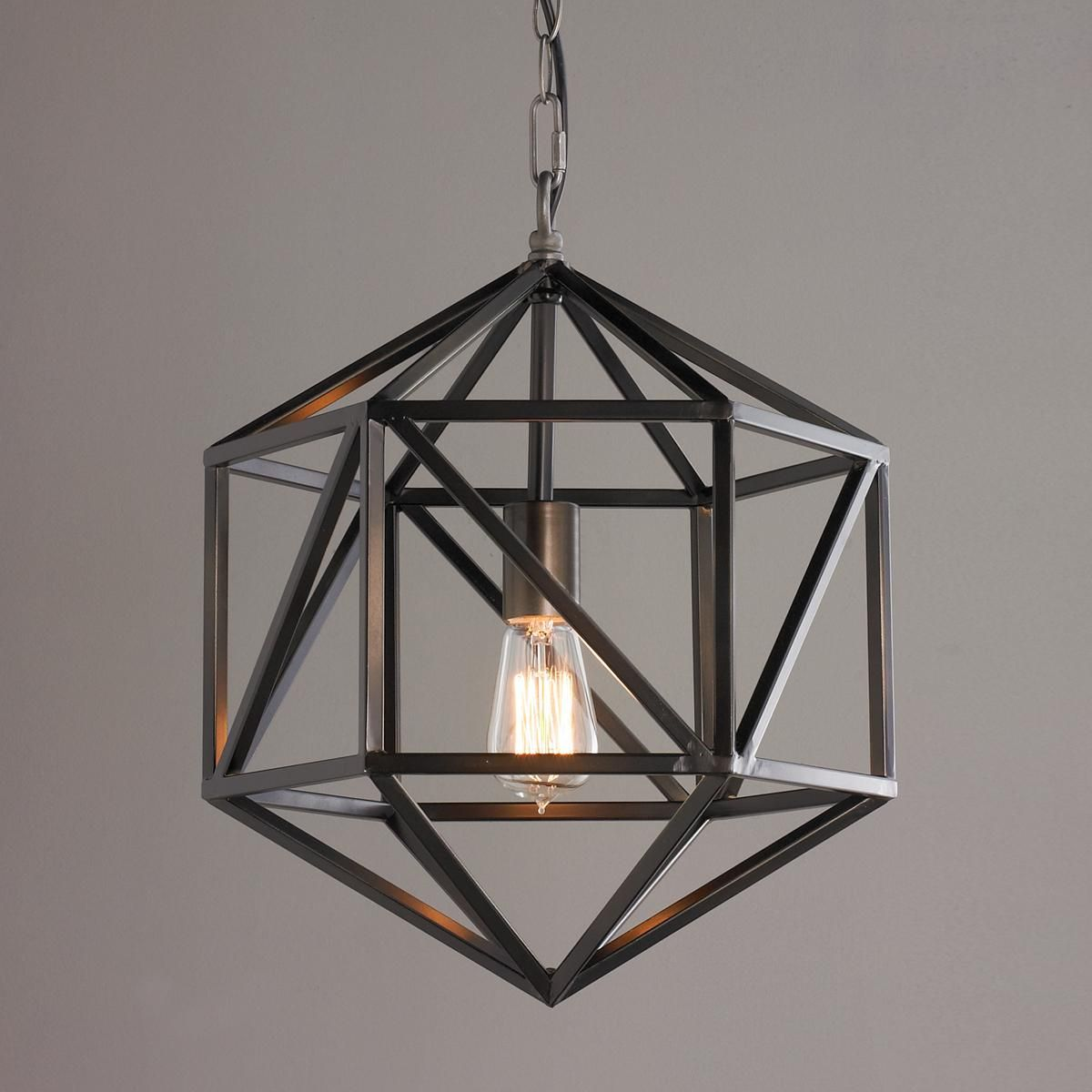 Prism cage pendant light pendant lighting open concept for Contemporary chandeliers and pendants