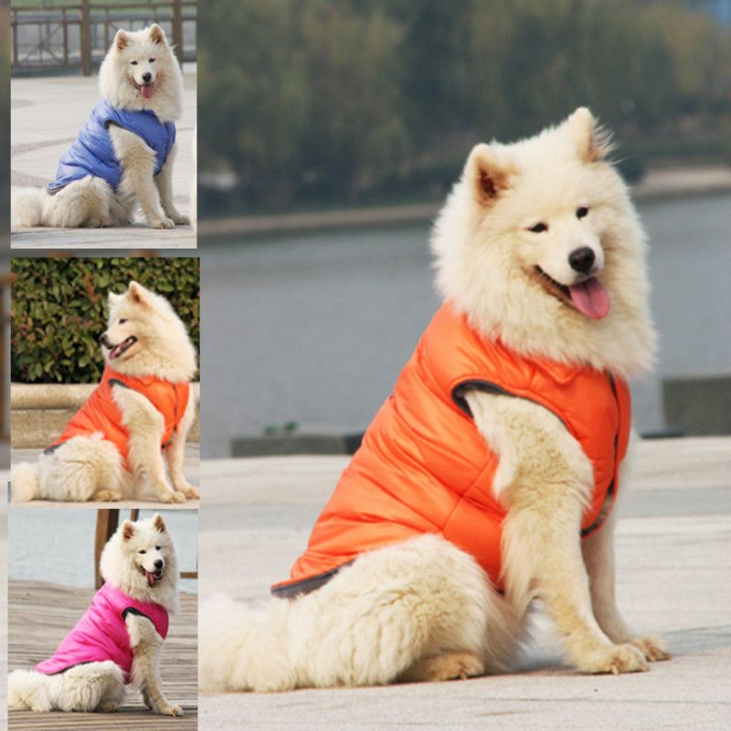 Winter Big Dog Down Coat Jacket Clothing For Dogs Golden Retriever