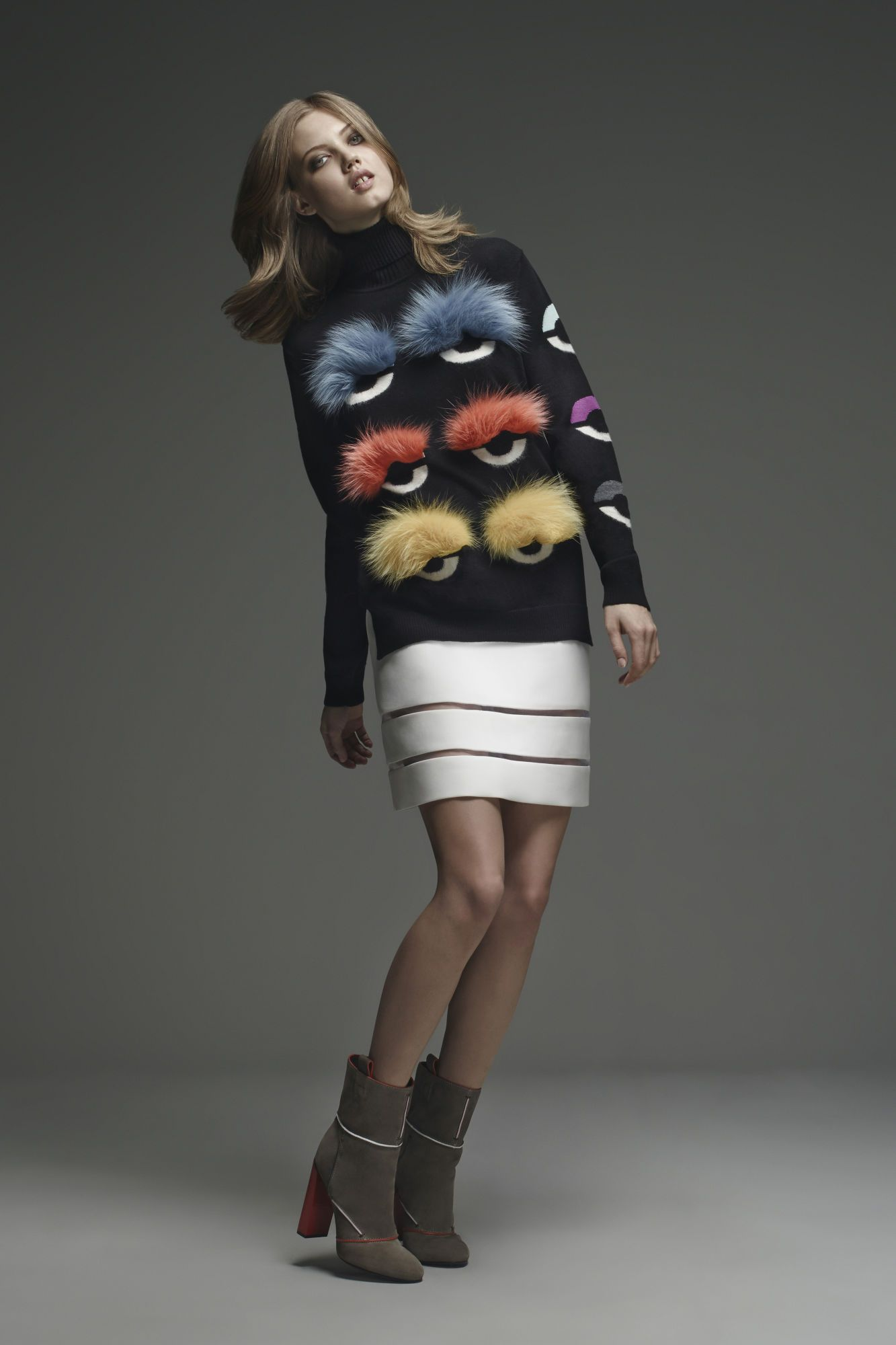 A look from Fendi pre-fall 2015.