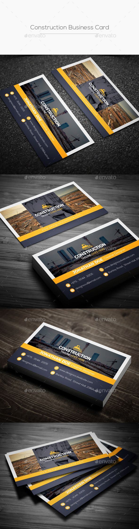 Construction business card construction business cards construction business card business cards print templates cheaphphosting Gallery