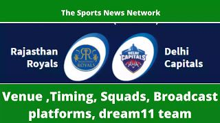 IPL2020: RR vs DC Dream11 team Venue, Timing, Live streaming, and squads