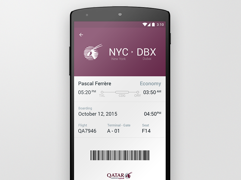 Boarding Pass  Boarding Pass Google Material And Material Design