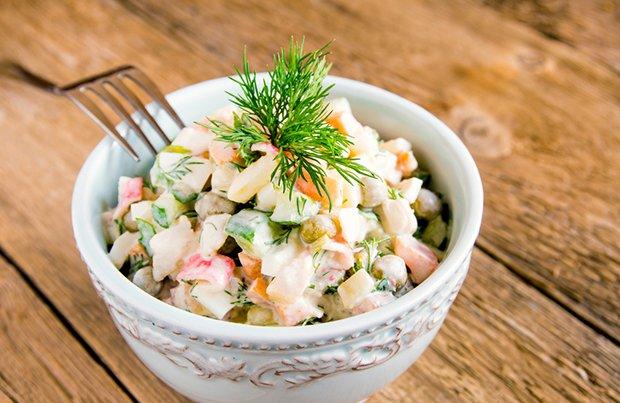 Salat Olivier - Rezept #olivierrussischersalat