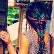 Resultado de imagen para cabellos pintados con papel crepe