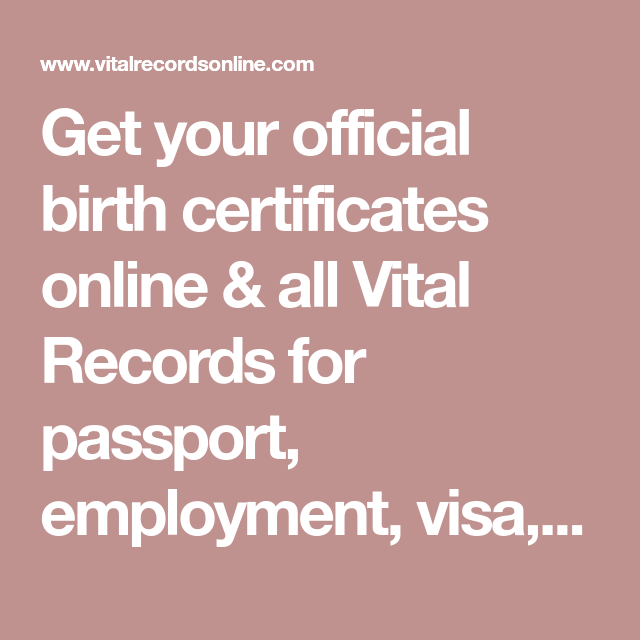 Get your official birth certificates online & all Vital Records for ...