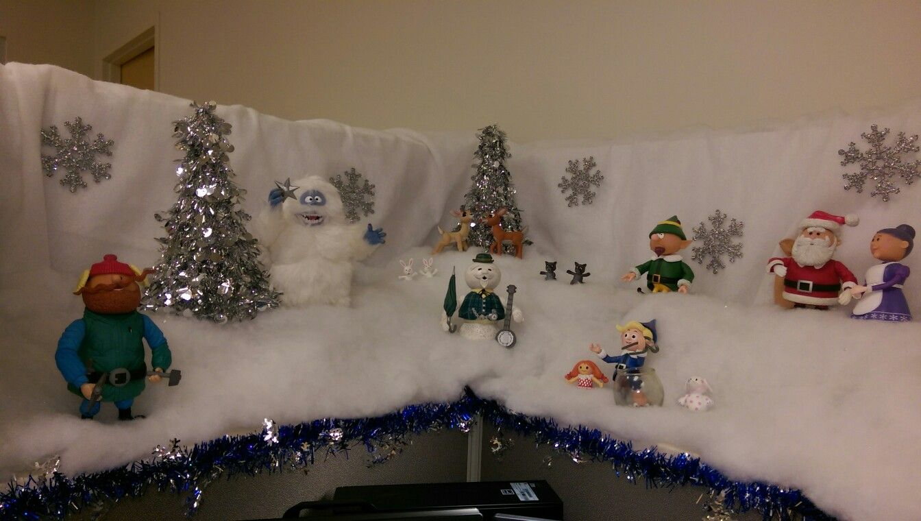 Christmas Cubicle My 2017 Theme Rudolph The Red Nosed Reindeer