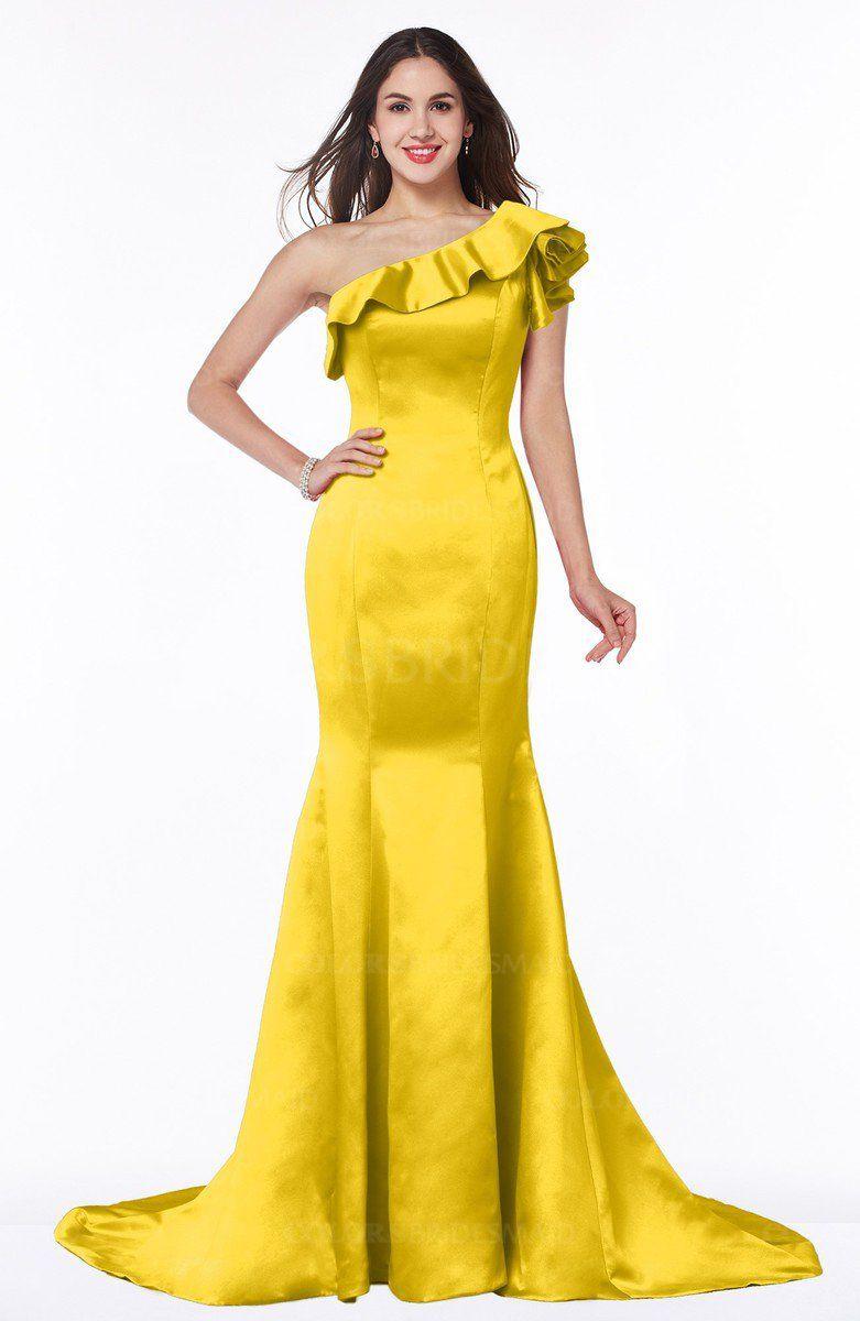 Yellow Elegant Bridesmaid Dresses