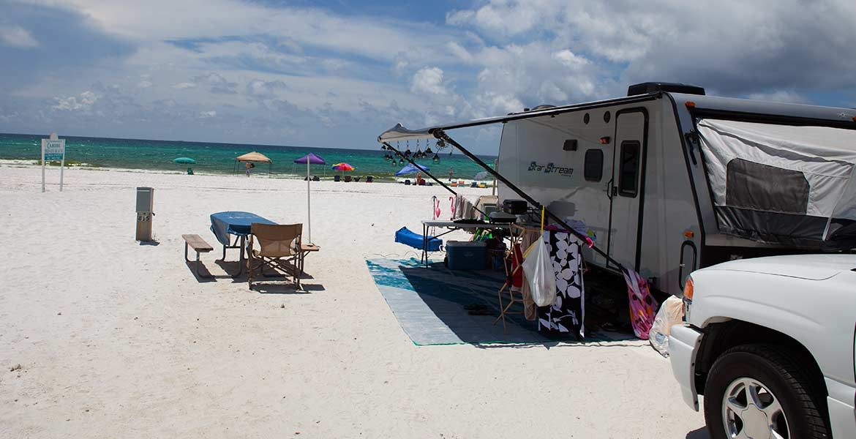 Rv Site Campground Destin Florida Camp Gulf Rv Campgrounds Florida Travel Trailer Camping Florida Camping