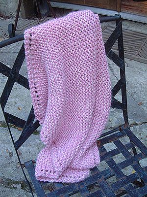 Free Knitting Pattern Very Easy Baby Blanket Holiday Quickie