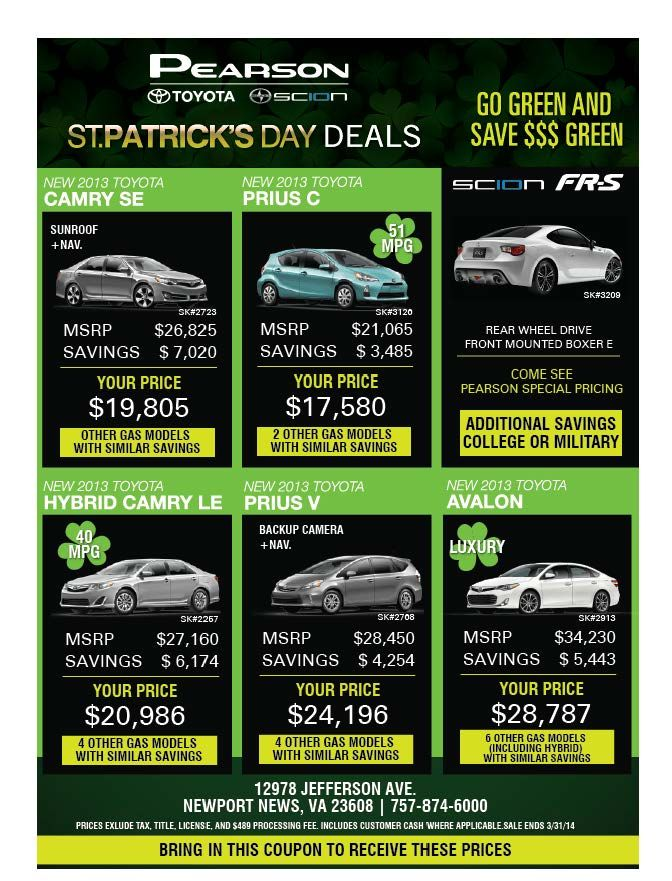 Itu0027s GO GREEN And SAVE GREEN $$$$ Only At Pearson Toyota Scion