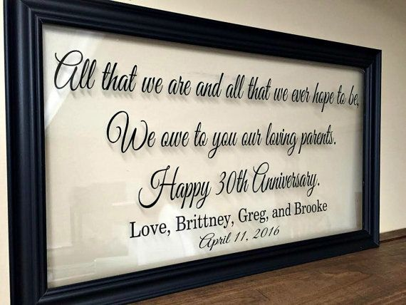 Gift Ideas For 50th Wedding Anniversary For Parents: Anniversary Gift For Parents, 50th Anniversary Gifts, 50th