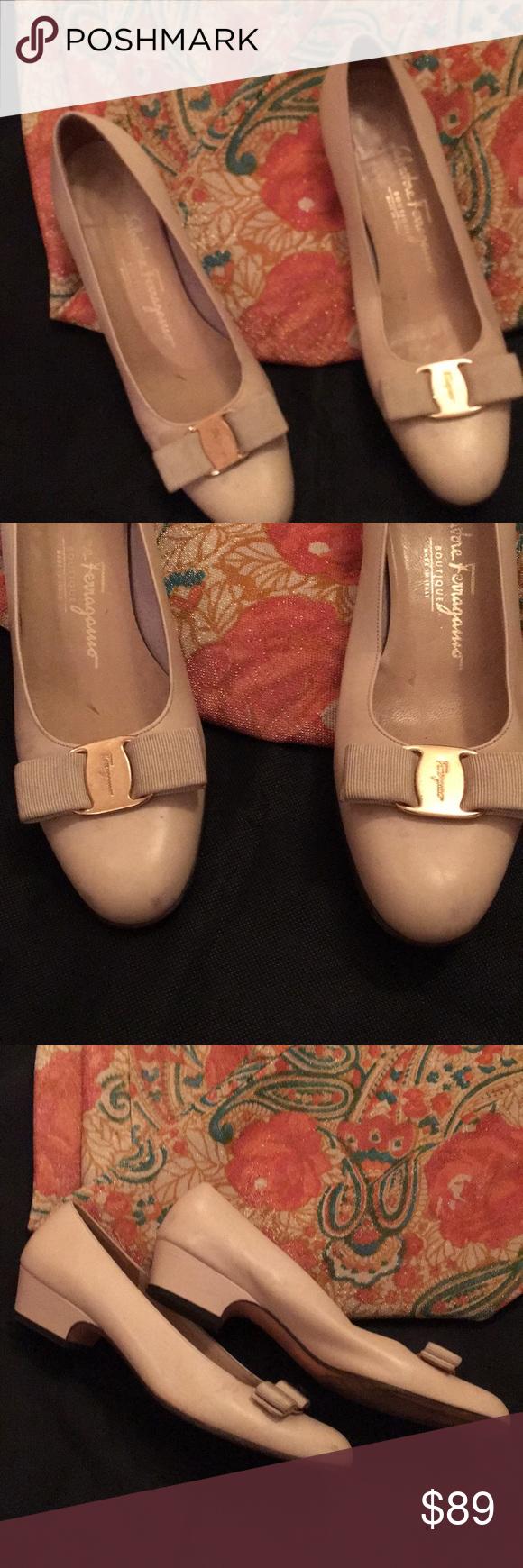 e8ff0527f5 Salvatore ferragamo boutique Salvatore ferragamo boutique flats beige with  bow , preloved Salvatore Ferragamo Shoes Flats & Loafers