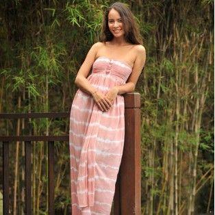 Hot Lava - Stripe Dress - pink