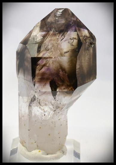 Brandberg Crystal 108 g 74mm Smoky Amethyst Skeletal Scepter w/ Record Keeper